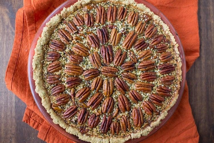 Healthier Hemp Pecan Pie -1