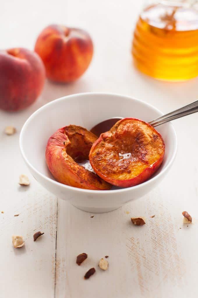 Roasted Peach Ice Cream Sundae