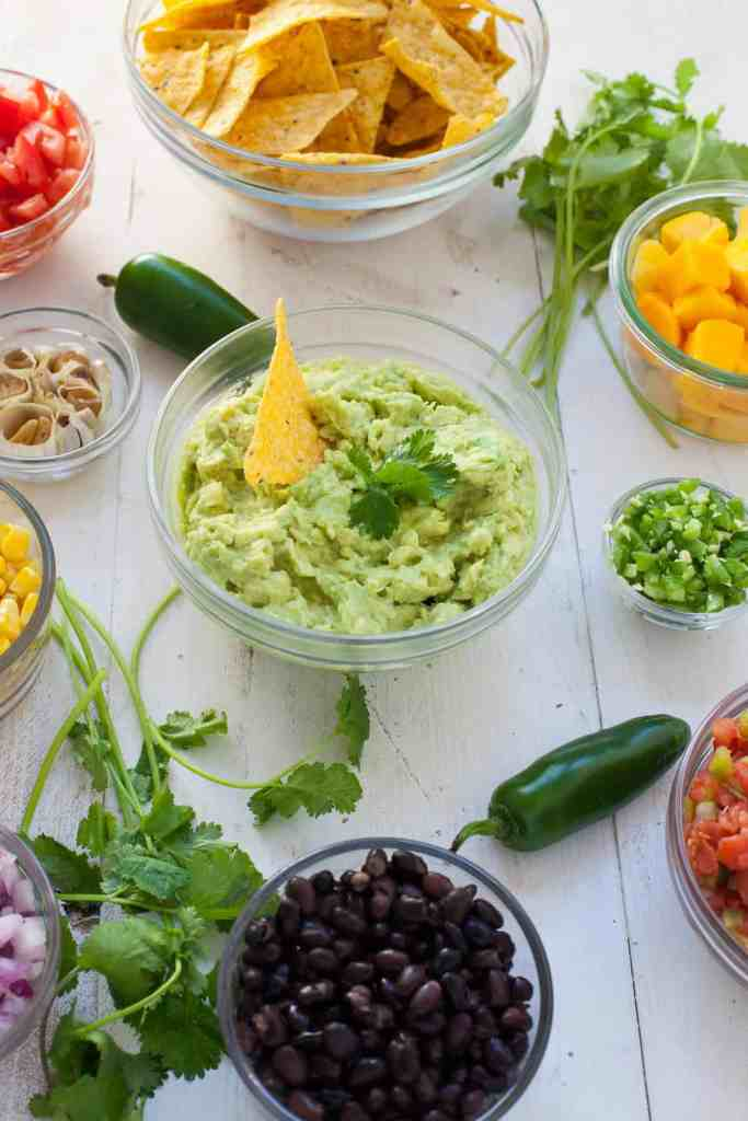 Healthy Guacamole Bar