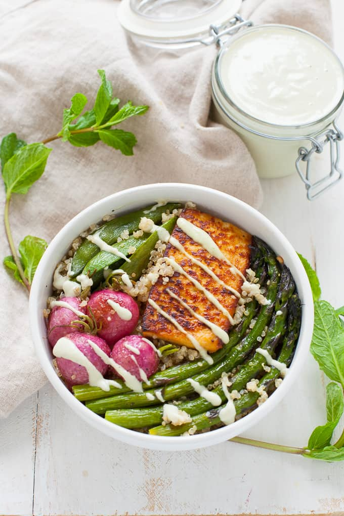 Spring Vegetable Buddha Bowl (vegan)