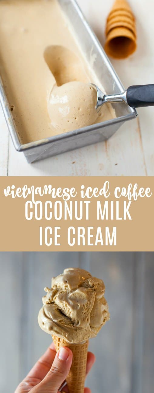 Coconut milk Vietnamese iced coffee ice cream is the creamiest, most delicious pick-me-up you'll ever eat.