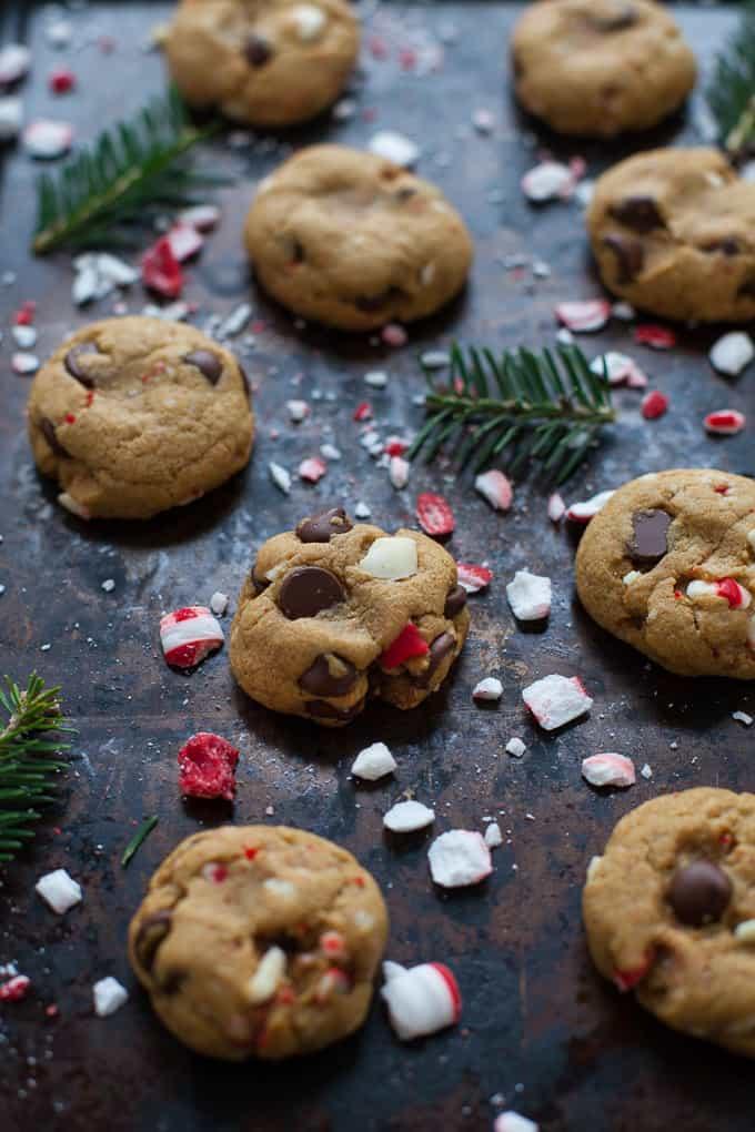 Easy Peppermint Dark Chocolate Chip Cookies The Foodie Dietitian
