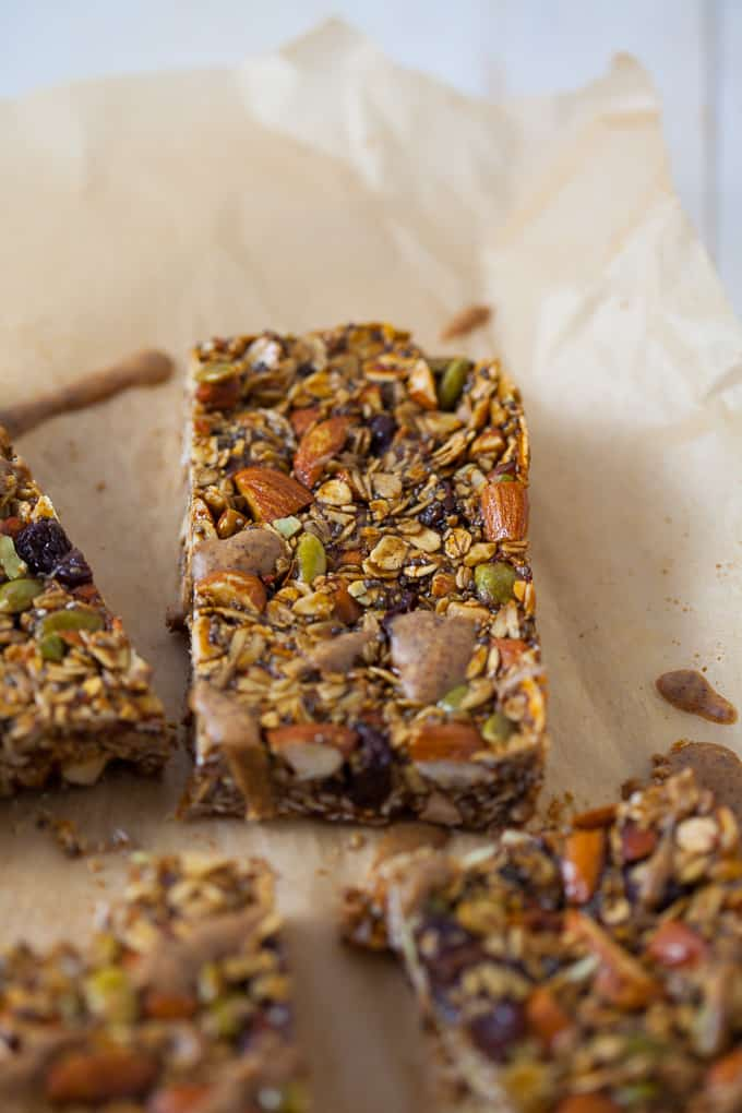 Holiday Gingerbread Granola Bars