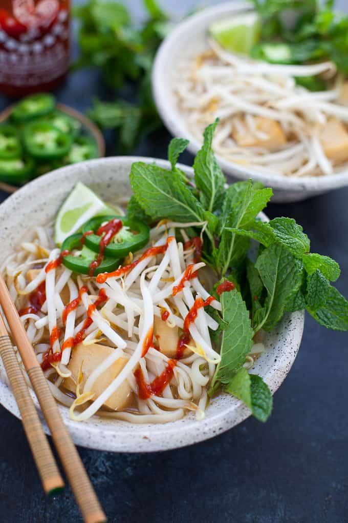 Instant Pot Vegetarian Pho - The Foodie Dietitian | Kara Lydon