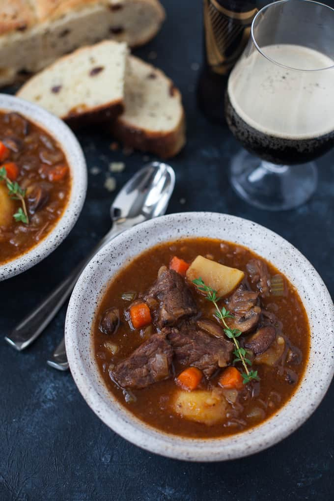 Instant Pot Guinness Beef Stew, perfect for St. Paddy's Day!
