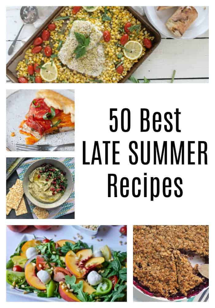 Summer may be winding down, but this time of year brings a fantastic array of seasonal produce. These 50 best late summer recipes highlight the stars of late summer: eggplant, tomatoes, corn, summer squash, zucchini, and peaches. With everything from zoodles to peach crisp, you're gonna want to head straight to the farmer's market!
