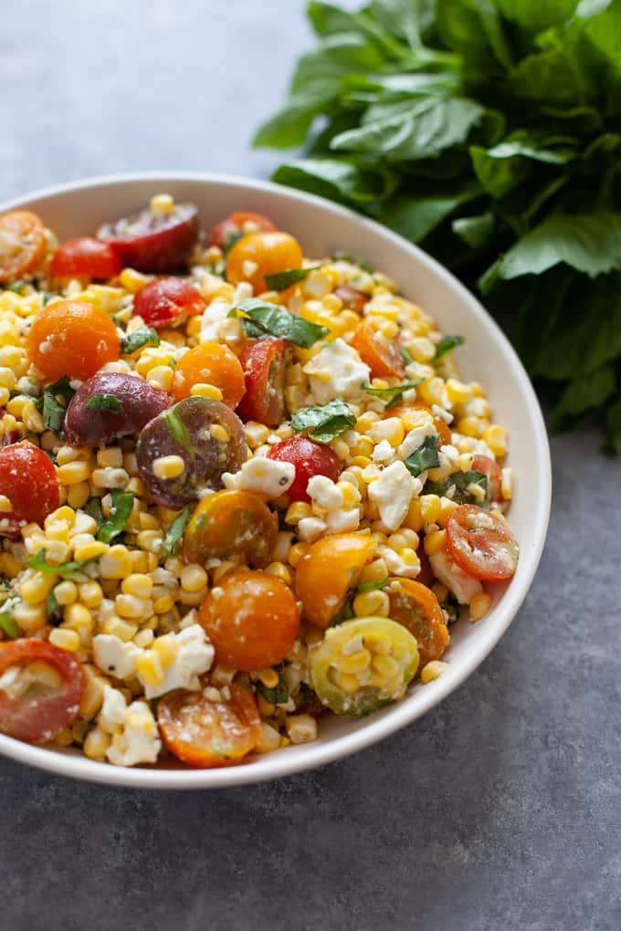 6 Ingredient Corn and Tomato Salad | Kara Lydon