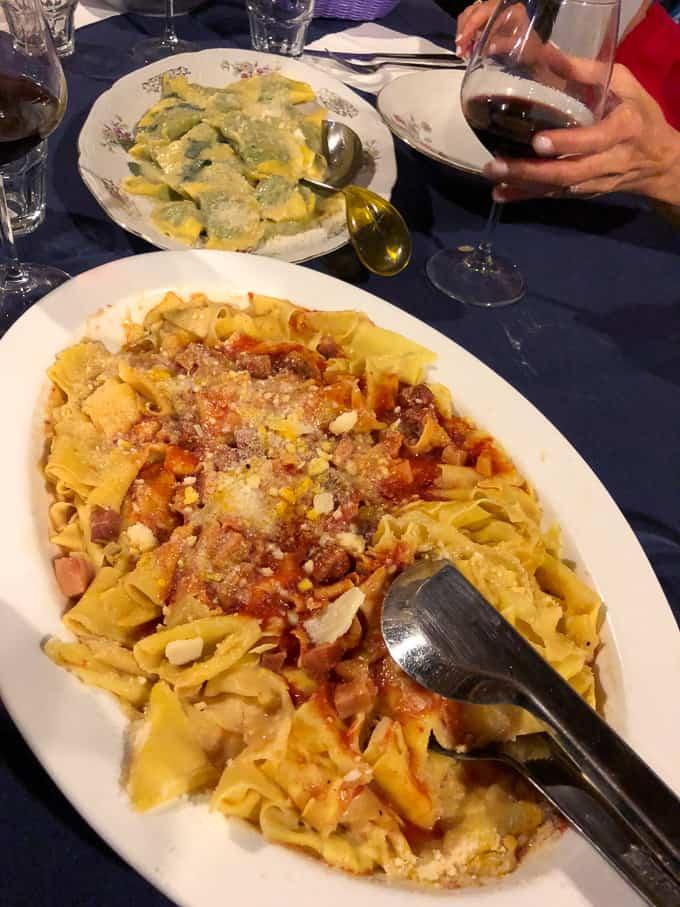 3 days in montepulciano - dinner at La Stringaie
