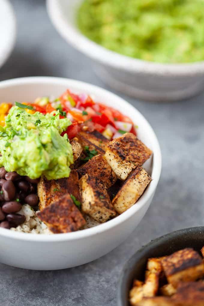 chipotle inspired vegan burrito bowl