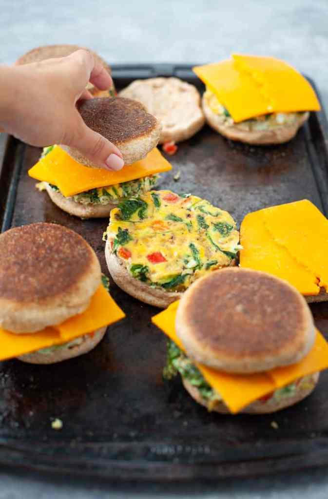 veggie breakfast sandwiches