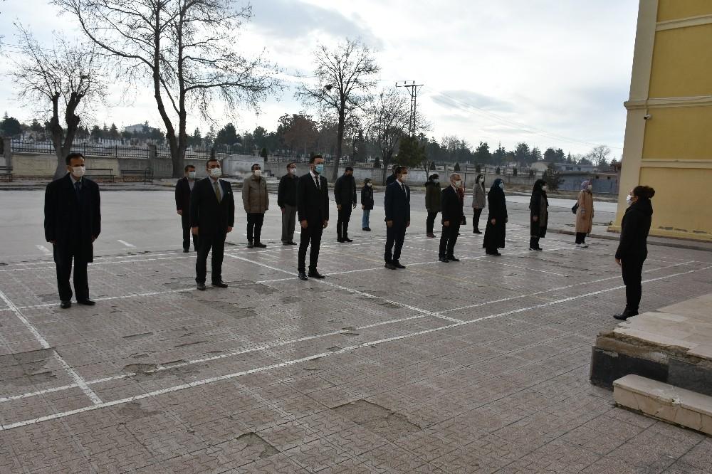 Karaman'da tüm okullarda İstiklal Marşı okundu