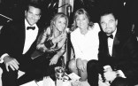 Bradley Cooper and Leonardo DiCaprio with their Moms