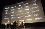 Casts and Crews on stage before the premiere screening