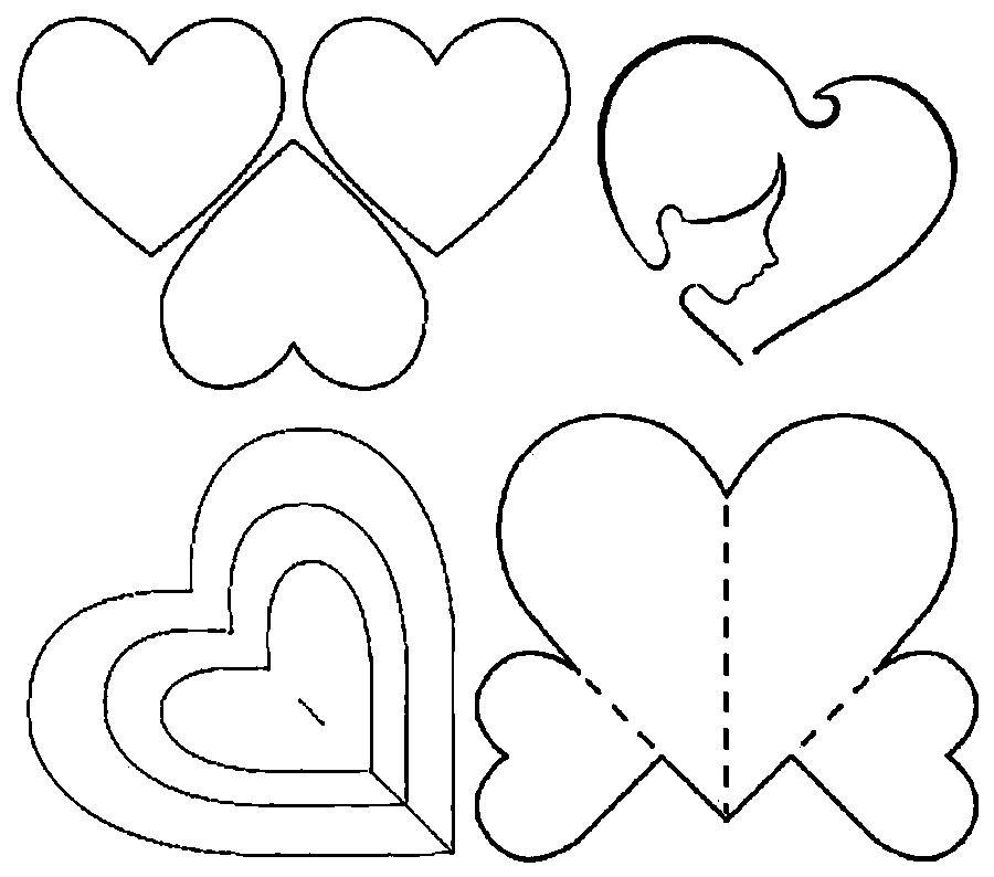 Днем рождения, открытка валентинка своими руками из бумаги шаблоны