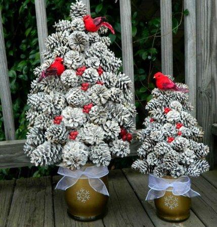 Χριστουγεννιάτικο δέντρο με τα χέρια σας για το Νέο Έτος & # 8212; Ιδέες φωτογραφιών και κύρια μαθήματα Στάδιο 38
