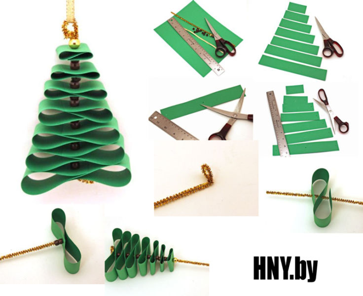 Árvore de Natal com as mãos para o ano novo e # 8212; Idéias de foto e mestres estágio 94