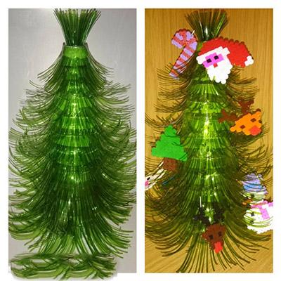 ต้นคริสต์มาส DIY สำหรับปีใหม่ & # 8212; ไอเดียภาพถ่ายและมาสเตอร์คลาสขั้นที่ 98