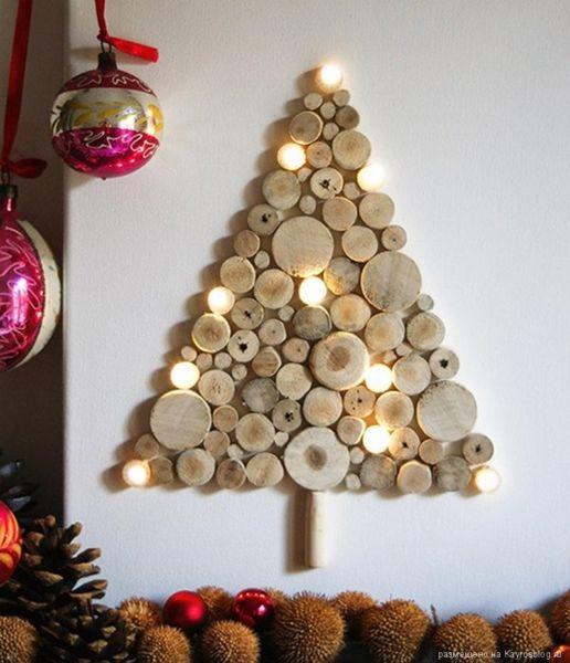 Árvore de Natal com as mãos para o ano novo e # 8212; Idéias fotográficas e master classes fase 29