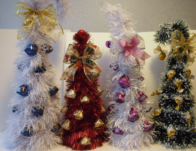 DIY juletræ til nytår & # 8212; fotoideer og mesterklasser trin 56