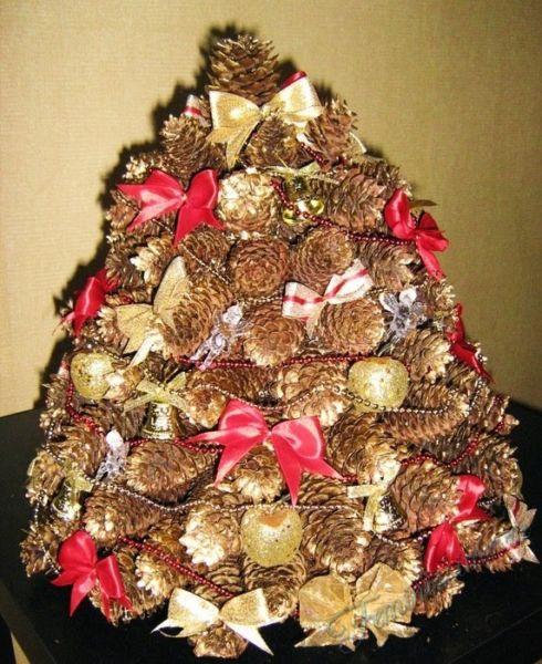 DIY juletræ til nytår & # 8212; fotoideer og mesterklasser trin 53