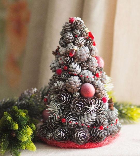 Χριστουγεννιάτικο δέντρο με τα χέρια σας για το Νέο Έτος & # 8212; Ιδέες φωτογραφιών και κύρια μαθήματα Στάδιο 50