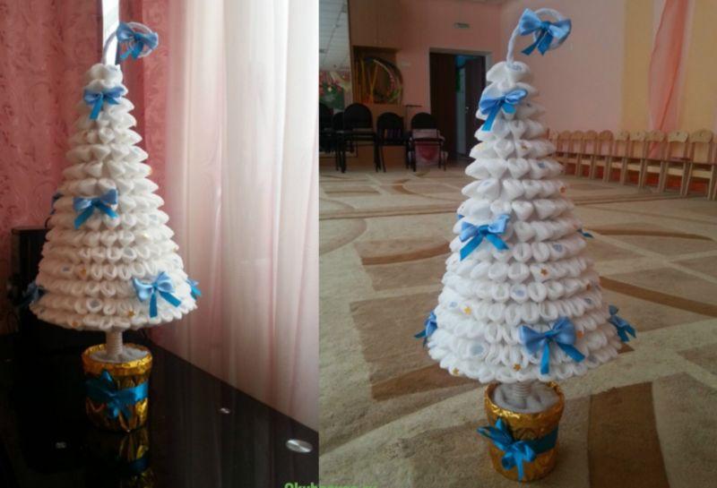 Χριστουγεννιάτικο δέντρο με τα χέρια σας για το Νέο Έτος & # 8212; Ιδέες φωτογραφιών και κύρια μαθήματα Στάδιο 125