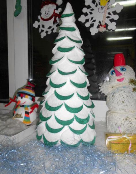DIY juletræ til nytår & # 8212; fotoideer og mesterklasser trin 124
