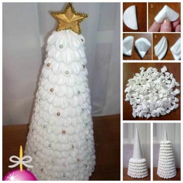 DIY juletræ til nytår & # 8212; fotoideer og mesterklasser fase 120