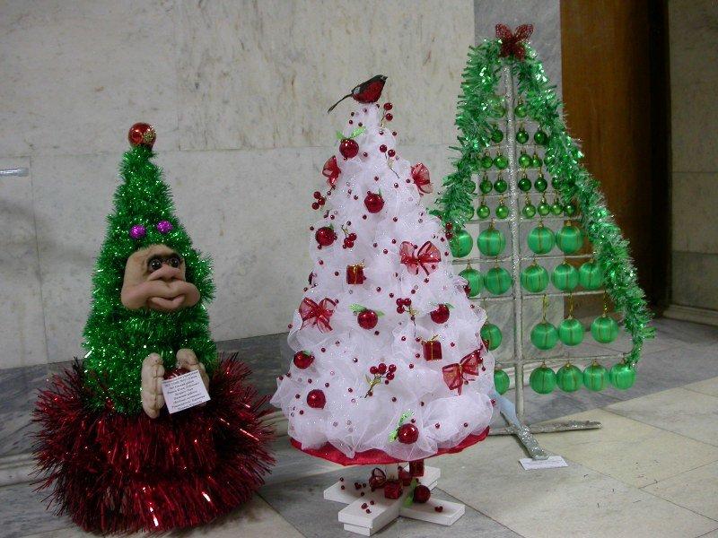DIY juletræ til nytår & # 8212; fotoideer og mesterklasser trin 139