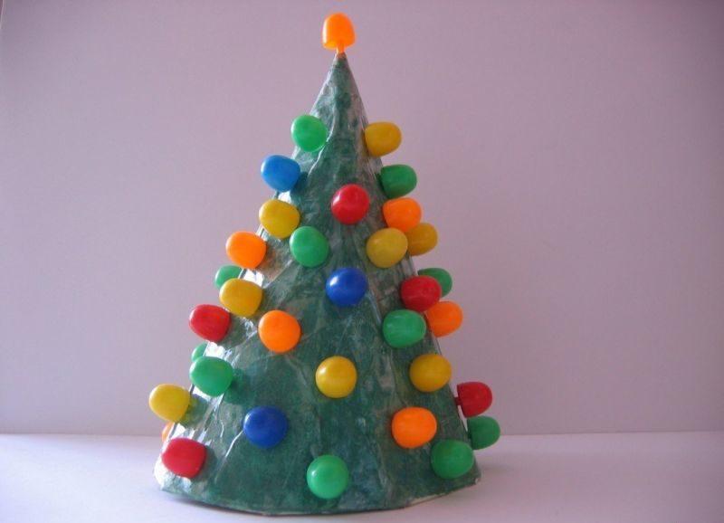 Árvore de Natal com as mãos para o ano novo e # 8212; Idéias de fotografias e mestres estágio de classes 143