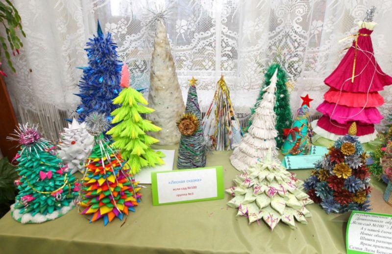 DIY juletræ til nytår & # 8212; fotoideer og mesterklasser fase 144