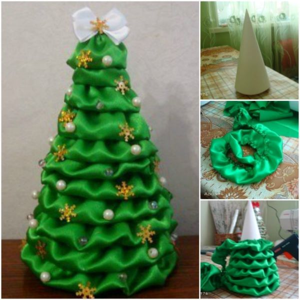 DIY Christmas tree for New Year & # 8212; photo ideas and master classes stage 3