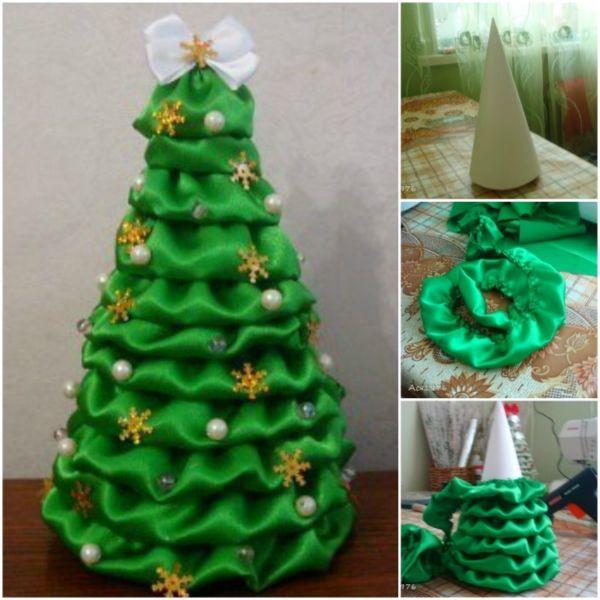 DIY juletræ til nytår & # 8212; fotoideer og mesterklasser trin 3