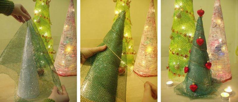 Жаңа жылдық шыршасы бар жаңа ағаш & # 8212; Фото идеялар және шеберлік сабақтары 14 кезең