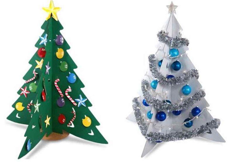DIY juletræ til nytår & # 8212; fotoideer og mesterklasser trin 18