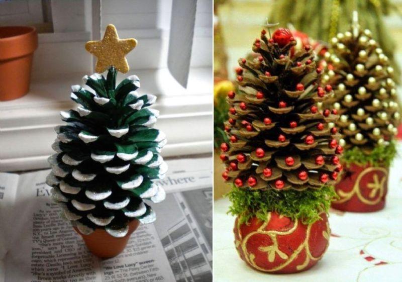 Χριστουγεννιάτικο δέντρο με τα χέρια σας για το Νέο Έτος & # 8212; Ιδέες φωτογραφιών και κύρια μαθήματα Στάδιο 21