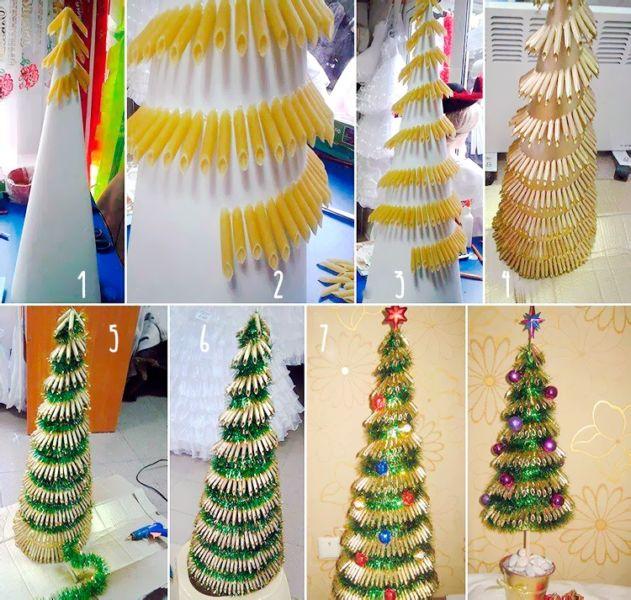 Жаңа жылдық шыршасы бар жаңа ағаш & # 8212; Фото идеялар және шеберлік сабақтары 4-кезең