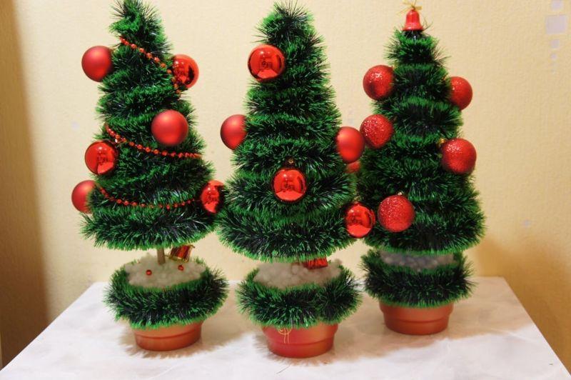 DIY juletræ til nytår & # 8212; fotoideer og mesterklasser trin 7