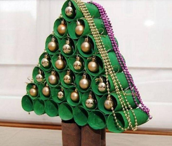 DIY juletræ til nytår & # 8212; fotoideer og mesterklasser fase 22