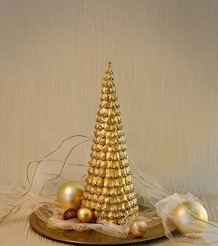 DIY juletræ til nytår & # 8212; fotoideer og mesterklasser trin 39