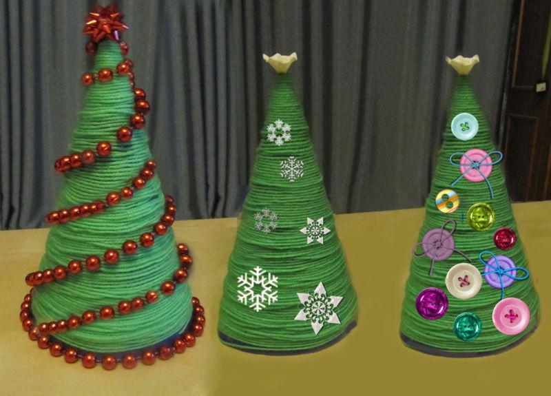 DIY juletræ til nytår & # 8212; fotoideer og mesterklasser trin 2