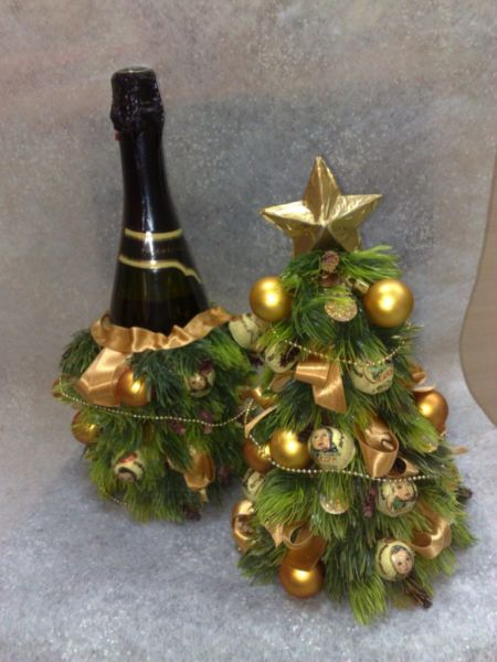DIY juletræ til nytår & # 8212; fotoideer og mesterklasser trin 73