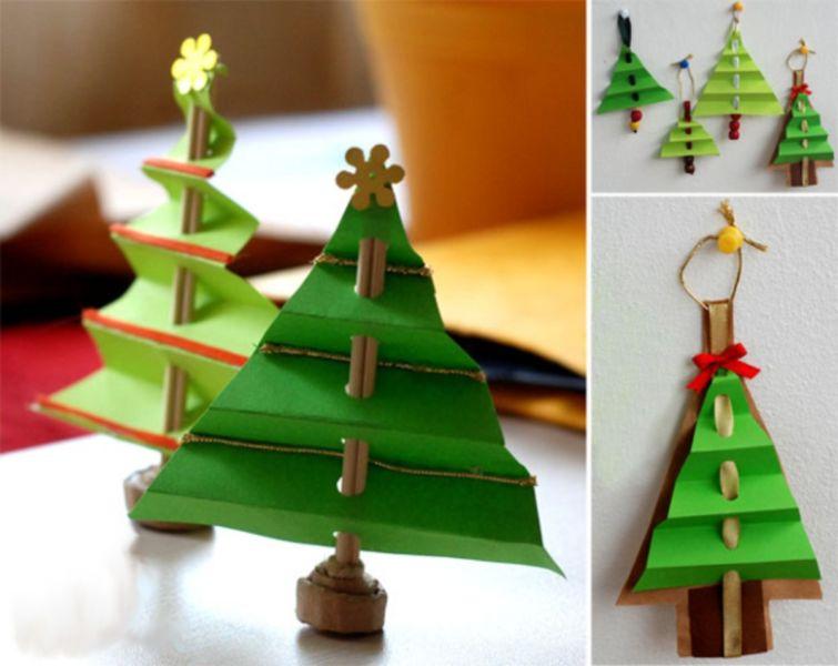 DIY juletræ til nytår & # 8212; fotoideer og mesterklasser trin 95