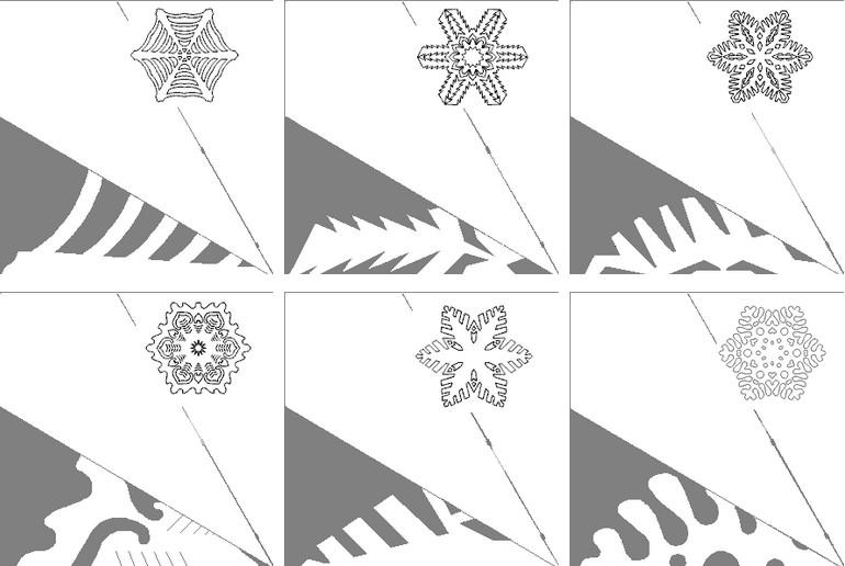 雪花与他们自己的手为新的一年2021.雪花阶段96制造的纸张和逐步说明