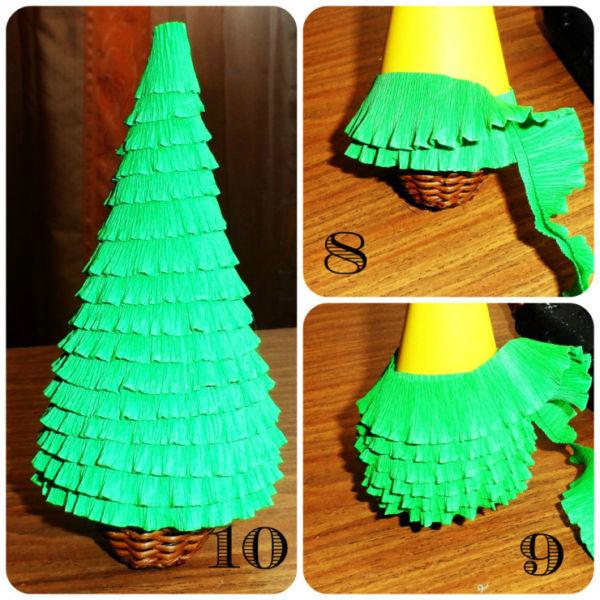 Tělor strom z papíru & # 8212; Schémata a šablony k vytvoření vánočního stromu s vlastními fází rukou 54