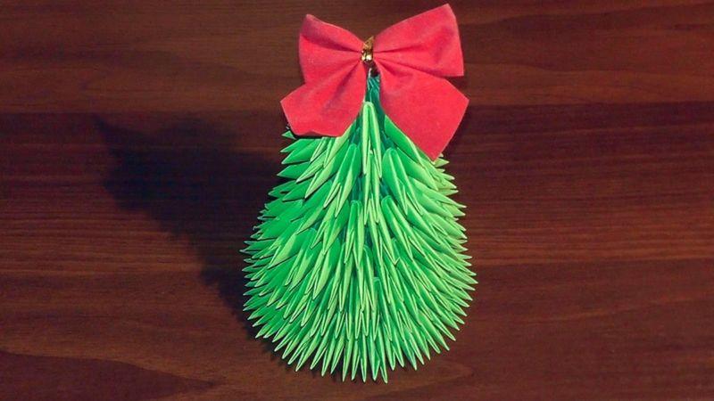 Tělor strom z papíru & # 8212; Schémata a šablony k vytvoření vánočního stromu s vlastními fází rukou 42