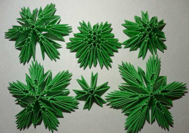 Tělor strom z papíru & # 8212; Schémata a šablony k vytvoření vánočního stromu s vlastními fází rukou 41