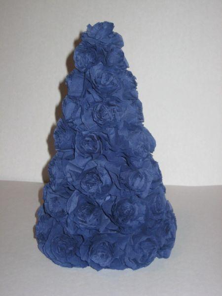 Tělor strom z papíru & # 8212; Schémata a šablony k vytvoření vánočního stromu s vlastními fází rukou 84