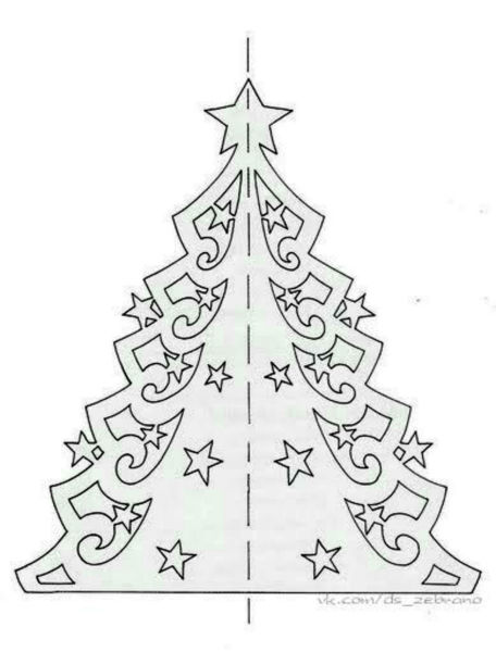 Tělor strom z papíru & # 8212; Schémata a šablony vytvořit vánoční strom s vlastními fází rukou 11