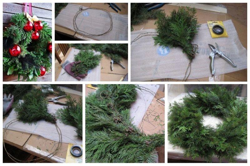 Жаңа жылдық гүл шоқтарын өзіңіз жасайды. Үйде гүл шоқтарын өндіруге арналған 12 шеберлік сабағы 31